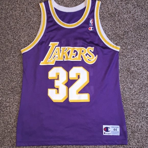 more photos ed04a dd65e Flawless Magic Johnson Champion Jersey 44